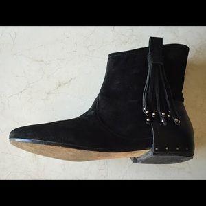 "Sigerson Morrison ""Belle"" Boho-Style Suede Boots"